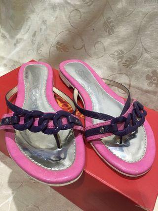 🚚 Sonia 平底紫粉涼拖鞋