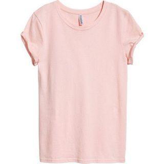 H&M Blush Pink Oversized Long Tshirt Top