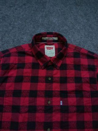 LEVI'S Flannel Shirt Long Sleeve Size M