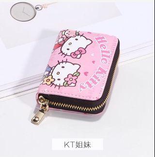 現貨  新款KT可愛真皮質感卡包零錢包