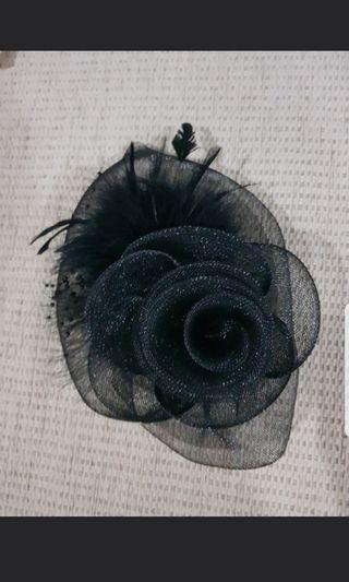 Black English Fascinator Net Hair clip acessories #EndgameYourExcess