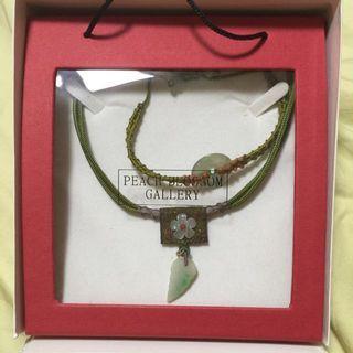 🚚 Peach Blossom Necklace & Bracelet Set