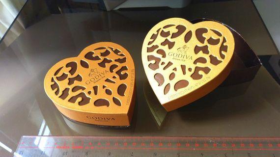 Godiva朱古力禮物盒 名牌歐洲朱古力 小型包裝盒食物紀念情侶