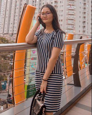 Uniqlo stripes dress