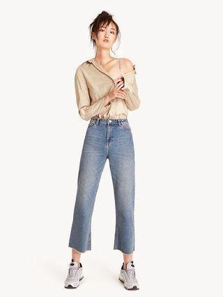 🚚 POMELO Cropped Wide Leg Jeans