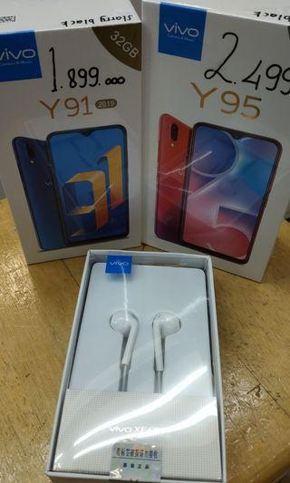 Vivo y95 ram 4/64gb  bisa cash/credit . Free gift speaker mini/ earphone