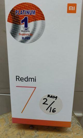 New) Xiaomi redmi 7 ram 2/16gb bisa cash/cicilan