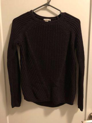 Burgundy Knit H&M Sweater #SwapCA
