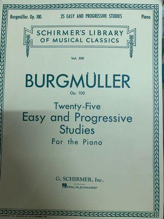 burgmuler 25 easy and progressive studies 鋼琴書
