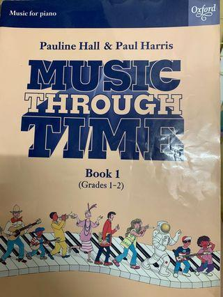 oxford Pauline hall and paul harris music through time book one 一級至二級鋼琴書