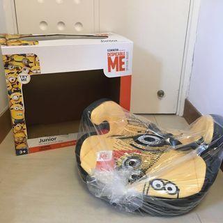 全新德國牌子Osann小黃人Minion 3-12歲兒童安全座椅增高墊 (黃色單眼Stuart)