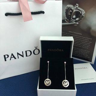 PANDORA Pure Love Drop Earrings