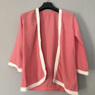 Cardigan Pink kimono