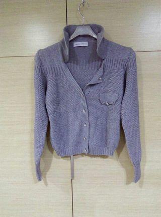 🚚 義大利LORANZO ROMANZA 外罩上衣,灰色,尺寸S,9成新,不含內黑洋裝。