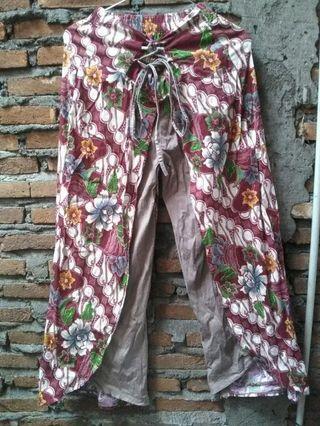 Celana kulot batik lucu