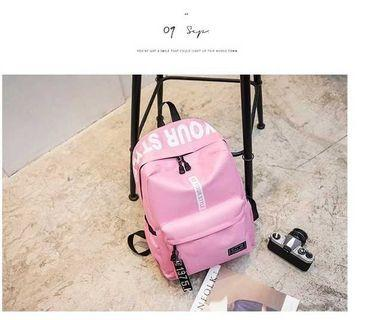 Unisex Pink Canvas Backpack - $24.90