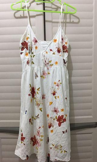 REPRICED! White Floral Summer Dress