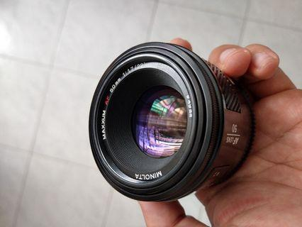 Minolta 50mm f1.7 for Sony A99