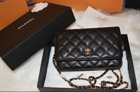 Chanel Wallet on Chain Caviar