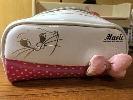 🚚 Disney Marie迪士尼瑪麗貓化妝包 收納包 鉛筆盒 鉛筆袋