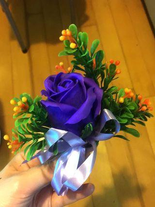 紫色伴郎襟花 #MTRkt