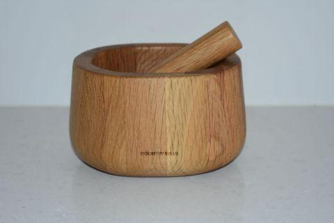 Country Road Wooden Mortar & Pestle