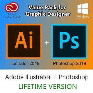 [Graphic Design Value Package] Adobe Photoshop CC + Illustrator CC 2019