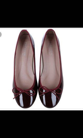 Pazzion Maroon Ballerina Patent Heel