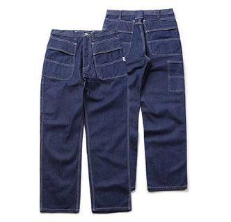 工裝口袋牛仔單寧長褲
