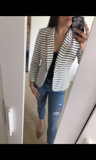 Jacobs Women's Striped Blazer Size Small