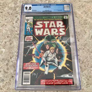 Star Wars #1 1977 1st printing launch before the movie CGC 9.0