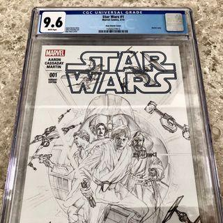 Star Wars #1 Alex Ross Sketch 2015 CGC 9.6 (1:200) comics