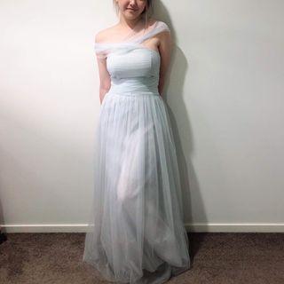 Multiway blue tulle formal dress