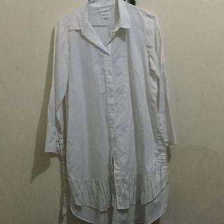 Cottonink White Long Shirt