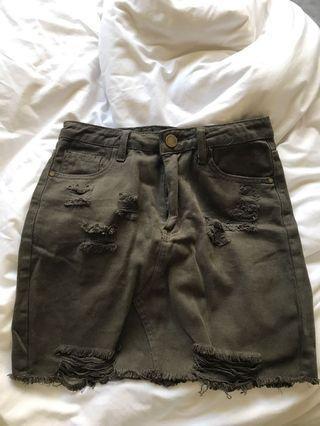 PLT Khaki Mini Skirt