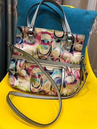Coach multicolor sling bag