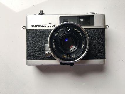 [經典款]Konica c35 定焦大光圈 估距底片相機