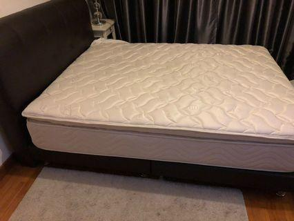 Queen Size bed, headboard and mattress