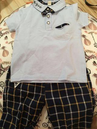 Set Baju Celana Haoqiguo
