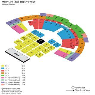 CHEAPER! NEGOTIABLE! WESTLIFE CONCERT TICKET THE TWENTY TOUR IN SINGAPORE (10 August 2019)