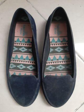 Flat Shoes Navy Blue