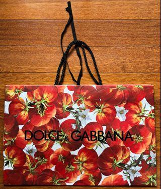 Dolce & Gabbana Limited Edition Paper Bags