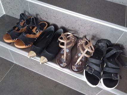4x Pairs of Women's Shoes - Size 8