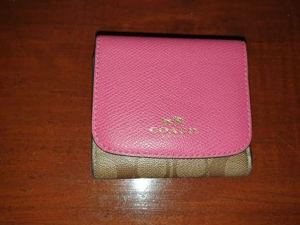 Coach fold small wallet