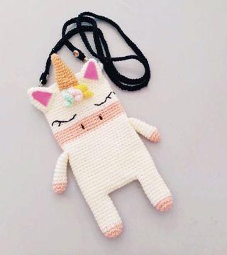 🚚 Unicorn Handmade Crochet Pouch