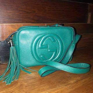 Gucci Disco Soho Sling Messenger Bag In Emerald Green