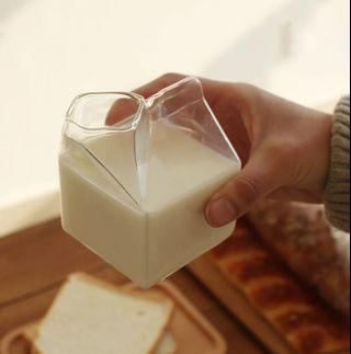 Glass milk bottle