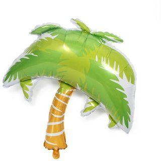 Coconut palm tree foil balloon