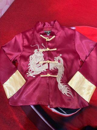 Baju anak naga emas merah