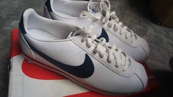 2191227420c5 NIKE CORTEZ (leather) - White Midnight Navy-Gym Red
